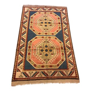 Vintage Kars Turkish Rug - 4' X 6'7""