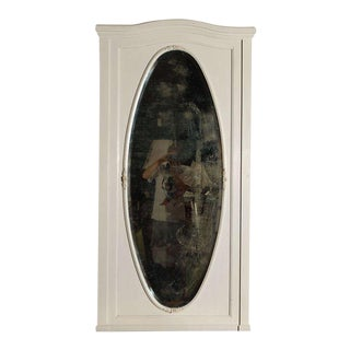 Large Oval Wall Mirror in Painted Frame
