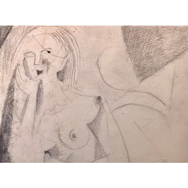 Abstract Figurative Nude Drawing Richard Ericson - Image 3 of 5
