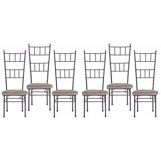 Mid-Century Bamboo Dining Chairs - Set of 6