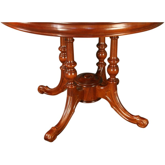 Italian Rococo Round Inlaid Card Table - Image 4 of 5