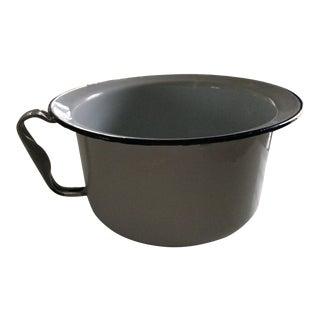 Vintage White Enamel Jug Pot