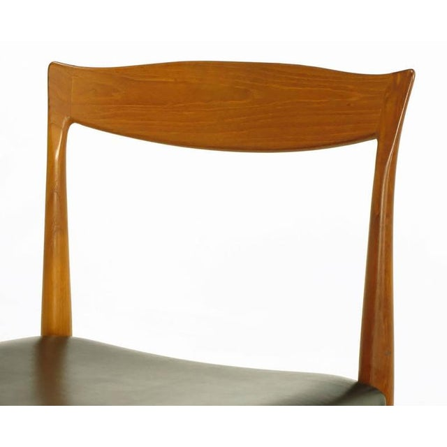 Six Teak Sculptural Back Dining Chairs, circa 1960s - Image 8 of 9