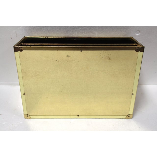 Image of Brass Campaign-Style Magazine Holder