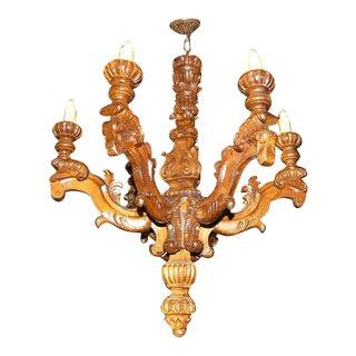 Italian Walnut Baroque Chandelier