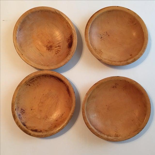 Primitive Wood Bowls - Set of 4 - Image 3 of 11