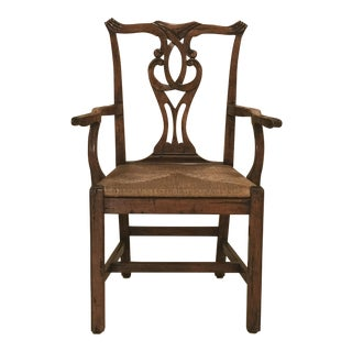 Robert Allen Design English Country Chippendale Arm Chair **Have Additional Identical Chairs for Sale (Total 4 Chairs for Sale)