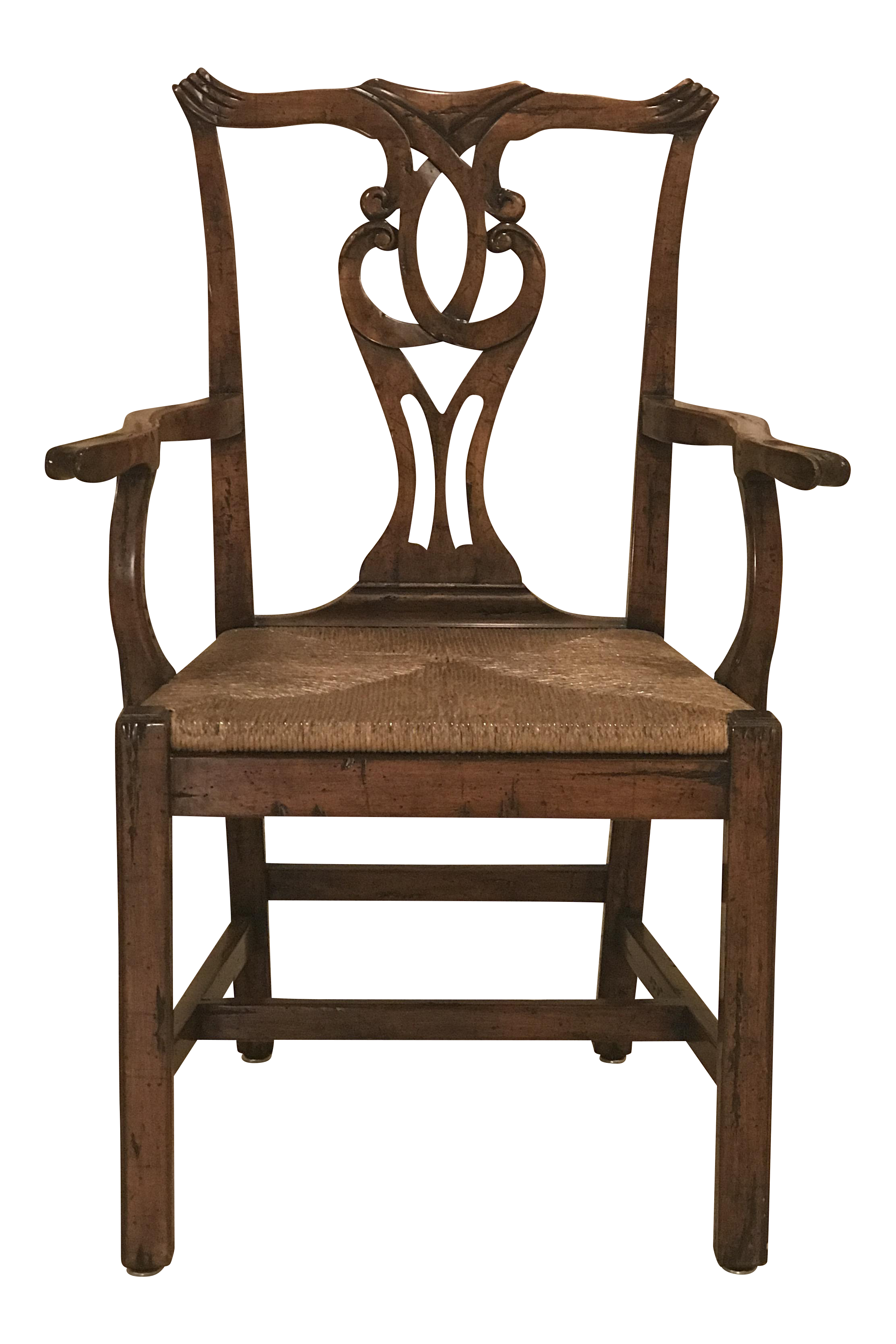 Robert Allen Design English Country Chippendale Arm Chair **Have Additional  Identical Chairs For Sale