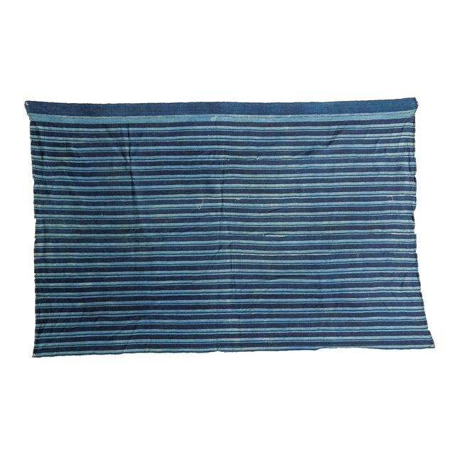 Image of African Indigo Blue Striped Throw
