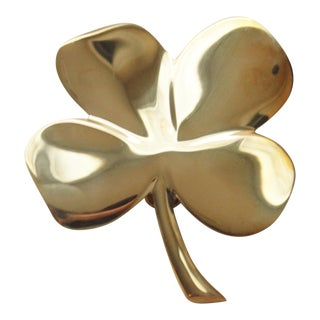 Four Leaf Clover Brass Door Knocker