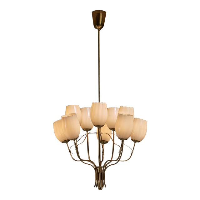 Paavo Tynell Chandelier for Sokos Helsinki House, Taito, Finland, 1950s - Image 1 of 5