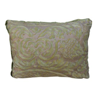 Petite Fortuny Green and Gold Pillow