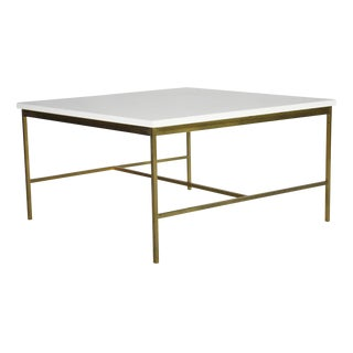 Paul McCobb Brass and Vitrolite Cocktail Table