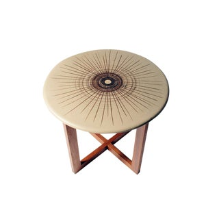 Design Technics Ceramic Discus Topped Occasional Table