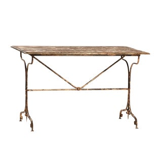 Distressed Iron & Wood Desk