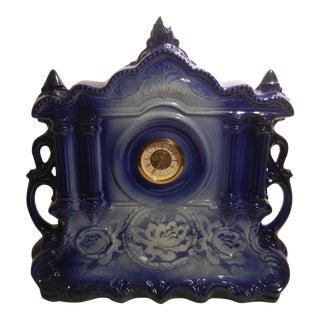 Antique Glazed Ceramic West Germany Clock