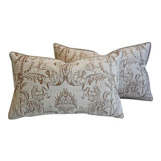 "27"" X 16"" Custom Tailored Fortuny Italian Mazzarino Feather/Down Pillows - a Pair"