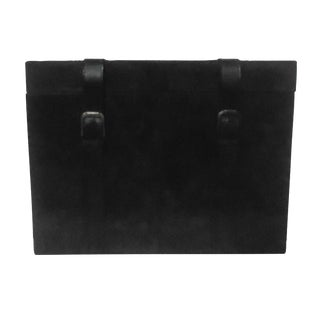 Leather Black Trunk Box