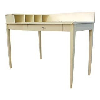 Mid-Century Danish Modern White Paul McCobb Planner Group Corner Desk