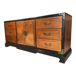 Bassett Hollywood Regency Asian Chinoiserie 9 Drawer Dresser