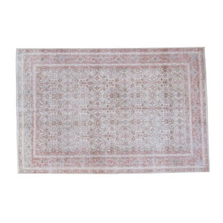 "Distressed Oushak Carpet - 5'6"" X 8'3"""