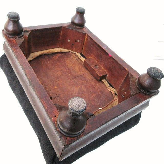 Antique Wood & Needlepoint Foot Stool - Image 7 of 8