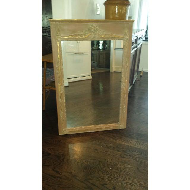 Image of Vintage Painted Parcel Gilt Trumeau Mirror