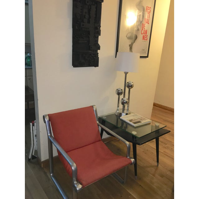 Mid-Century Modern Black Wood & Glass Side Table - Image 9 of 10