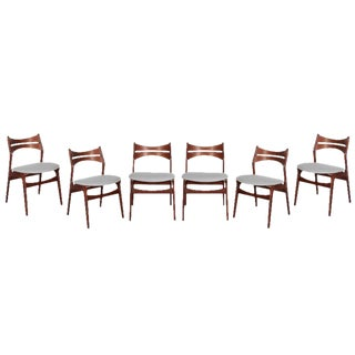 Mid-Century Modern Dining Chairs by Erik Buch - Set of 6