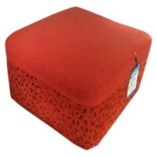 DellaRobbia Kenny Red Ottoman