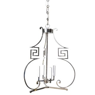 James Mont Mid-Century Style Chrome Chandelier