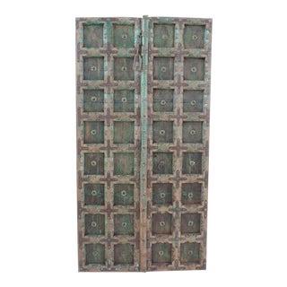 Antique Indian Green Door