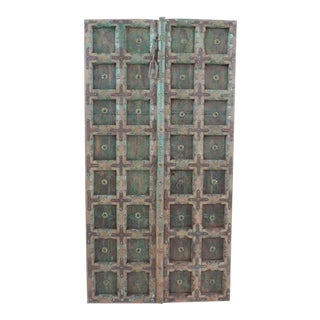 Antique Indian Green Door