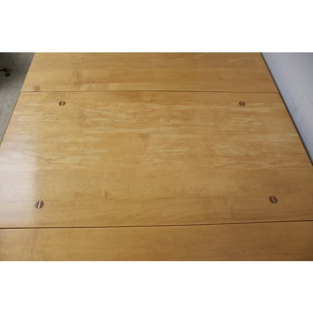 Mid-Century Maple Drop Leaf Dining Table - Image 8 of 11