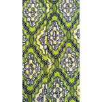 Image of African Dutch Wax Spring Green Fabric 4 Yards