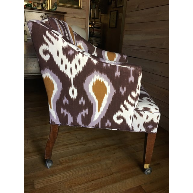 Ikat Linen Chair - Image 4 of 5
