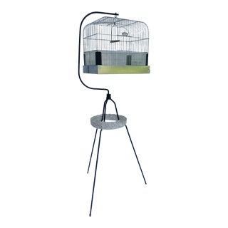 Arthur Umanoff Style Wrought Iron Birdcage Stand Sculpture