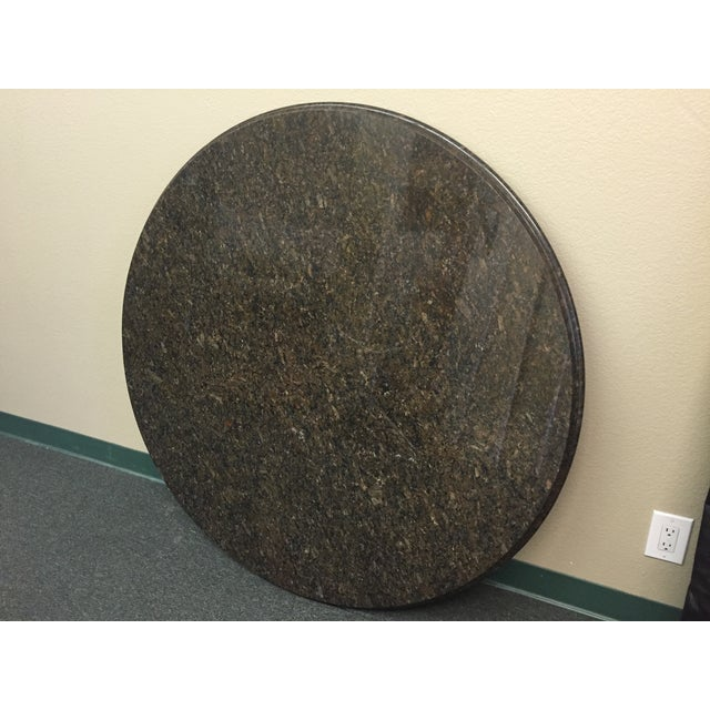 "Image of Beveled Black Granite 48"" Round"