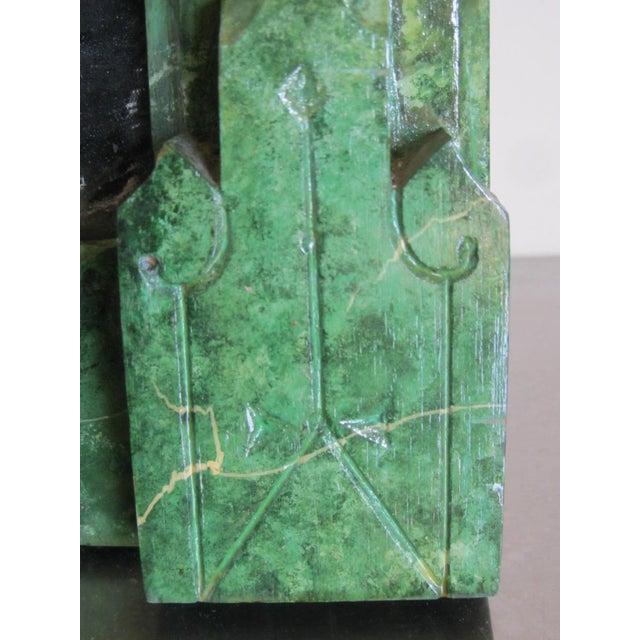 Refurbished Vintage Green Faux Marble Mirror - Image 4 of 7