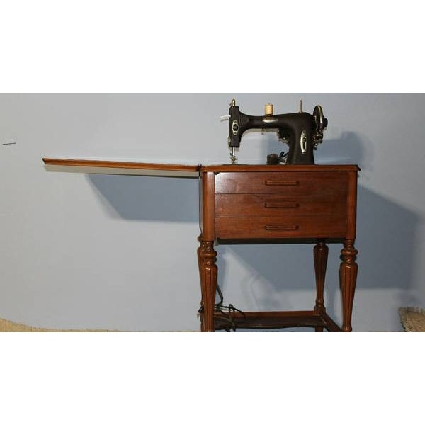 Image of Antique Sewing Machine Cabinet From 1926