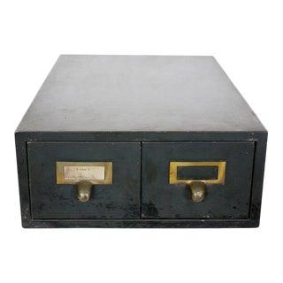 Vintage Industrial Metal File Drawers