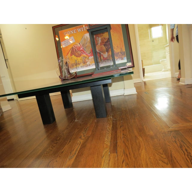 New Italian Square Glass Top Coffee Table - Image 5 of 9