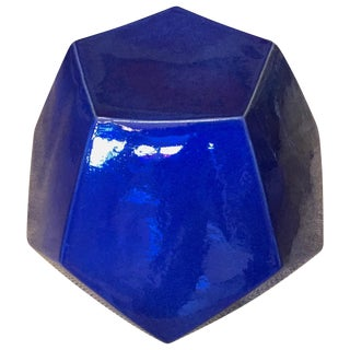 Cobalt Blue Dodecahedron Stool Table