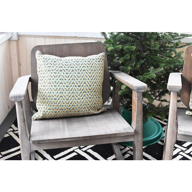 Modern Gray Wooden Rocking Chair - Image 10 of 10