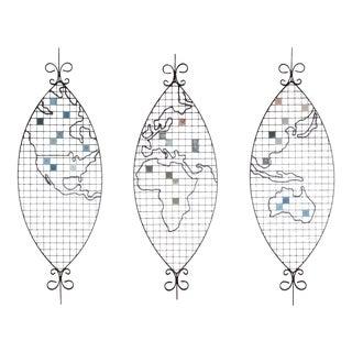 Frederic Weinberg Mosaic Maps - Set of 3