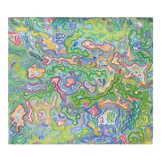 """Extra-large Abstract Oil Painting by Trixie Pitts """"Mardi Gras"""""""