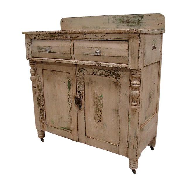 Primitive Painted Antique Dresser Chest Cupboard - Image 1 of 5