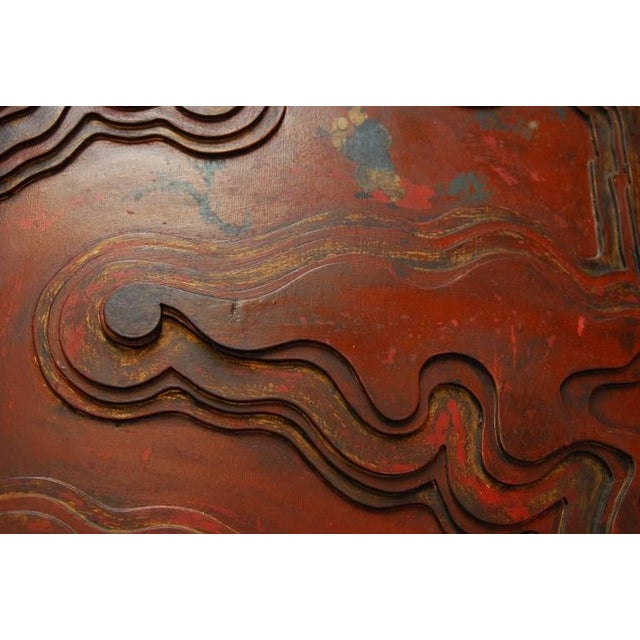 Chinese Carved Temple Courtyard Door Panels - A Pair - Image 9 of 10