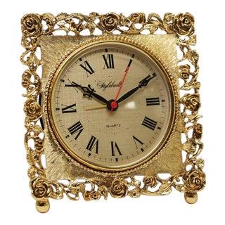 Vintage Stylebuilt Quartz Brass Table Clock