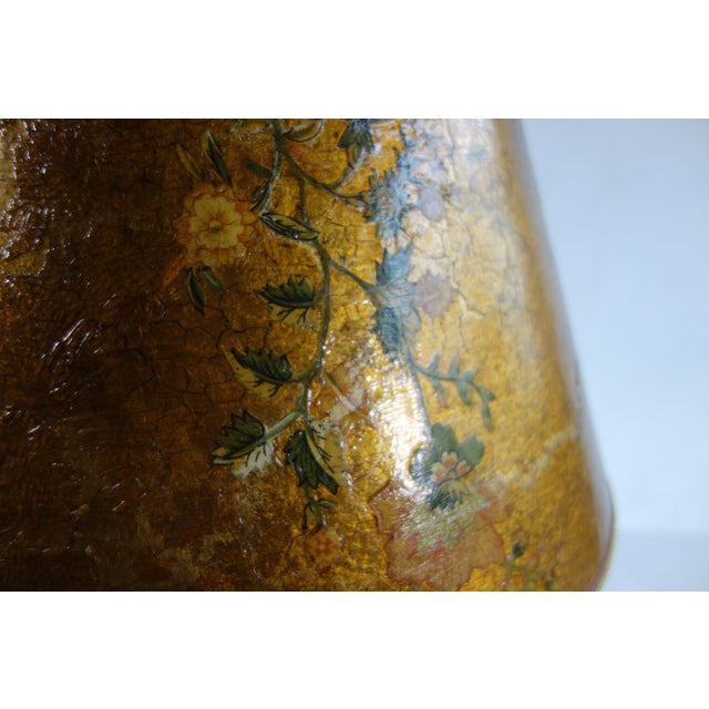 Image of Golden Hand Painted Lamp